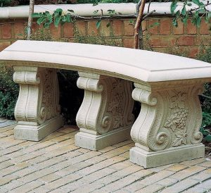 Haddonstone distributor since 2001 Caststone Curved Scrolled Seat is anhellip